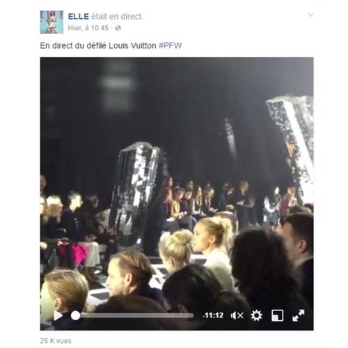 Elle live fashion week