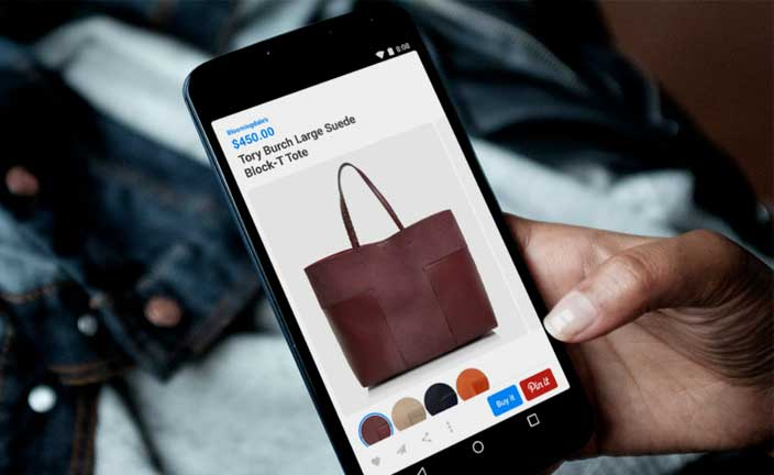 e-commerce pinterest application